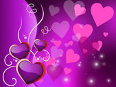 Background Hearts Represents Valentines Day And Backdrop — Stock Photo