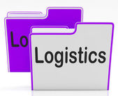 Logistics Files Indicates Concept Business And Administration — Foto Stock