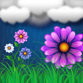 Flowers Background Indicates Clothes Line And Abstract — Stock Photo
