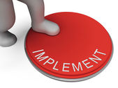 Implement Switch Represents Doing Implementation And Implementin — Stock Photo