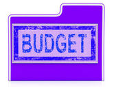 Budget File Shows Economy Business And Expenditure — Stock Photo