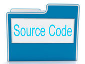 Source Code Shows Document Binder And Folders — Stock Photo