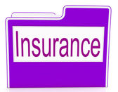 File Insurance Means Policy Protection And Organized — Foto Stock
