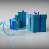 Celebration Giftboxes Shows Occasion Parties And Surprises — Stock Photo