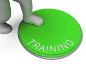 Switch Training Indicates Learn Education And Button — Foto Stock