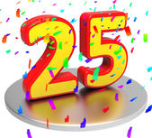 Twenty Five Indicates Happy Anniversary And Anniversaries — Stock Photo