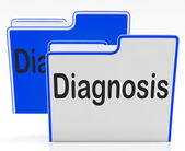 Files Diagnosis Indicates Health Sick And Binder — Stock Photo