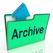 Archive File Means Cloud Storage And Network — Stock Photo