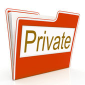 File Private Means Confidentiality Folders And Confidentially — Stock Photo