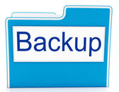 Backup File Shows Data Archiving And Administration — Stock Photo