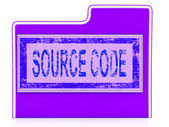 Source Code Indicates Administration Organized And Computer — Foto Stock