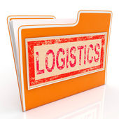 File Logistics Indicates Plan Organize And Document — Stock Photo