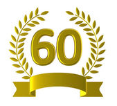 Anniversary Sixty Represents Happy Birthday And 60 — Stock Photo