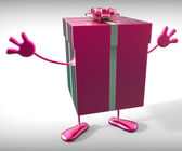 Celebrate Gift Means Occasion Gift-Box And Gifts — Stock Photo