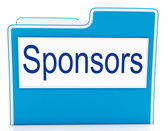 File Sponsors Represents Promotes Supporter And Promoter — Stock Photo