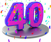 Anniversary Forty Means Birthday Party And 40Th — Stock Photo