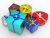 Giftbox Giftboxes Represents Gift-Box Giving And Surprise — Stock Photo