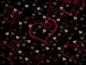 Background Heart Means Valentine Day And Backdrop — Stock Photo