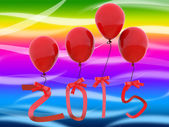 New Year Represents Two Thousand Fifteen And 2015 — Стоковое фото