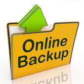 Upload Backup Indicates World Wide Web And Archive — 图库照片