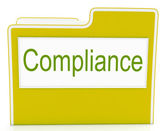 File Compliance Means Agree To And Rules — Stock Photo