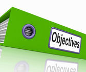 Objectives File Means Correspondence Business And Intent — Foto de Stock