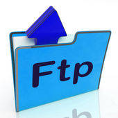 Ftp File Represents Transfer Files And Binder — Stock Photo