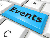 Events Www Indicates World Wide Web And Happening — Stock Photo