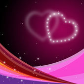 Background Heart Shows Valentine Day And Backdrop — Stock Photo