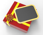 Gift Tag Indicates Blank Space And Copy-Space — Stock Photo