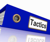 Tactics File Indicates System Course And Techniques — Stock Photo