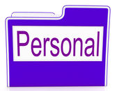 File Personal Means Confidentially Folders And Individually — Stock Photo