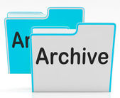 Files Archive Shows Library Storage And Archives — Stock Photo