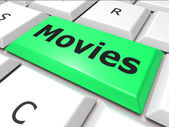 Online Movies Means World Wide Web And Film — Foto Stock