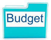 File Budget Indicates Expenditure Document And Cost — Stock Photo