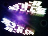 Işıma arka ışık patlaması ve soyut temsil eder — Stok fotoğraf