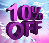 Ten Percent Off Shows Sale Discounts And Promotion — Stock Photo