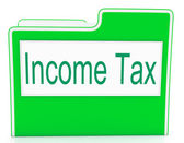 Income Tax Means Paying Taxes And Correspondence — Stock Photo