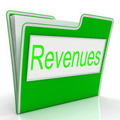File Revenues Means Document Correspondence And Earnings — Stock Photo