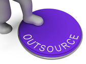 Outsource Switch Represents Control Sourcing And Outsourced — ストック写真