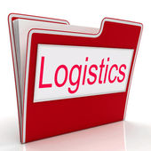 File Logistics Shows Process Plan And Coordinating — Zdjęcie stockowe