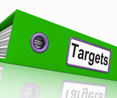 Targets File Represents Aiming Folder And Document — Stock Photo