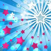 Leuchten sternen zeigt leichte burst und abstrakt — Stockfoto