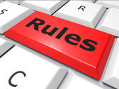 Rules Online Means World Wide Web And Guidance — Stock Photo