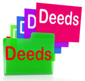 Deeds Files Indicates Document Ownership And Title — Stock Photo