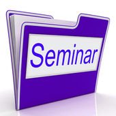 Seminar File Represents Convention Speaker And Seminars — Stock Photo