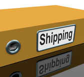 Shipping File Means Folder Organization And Binder — Zdjęcie stockowe