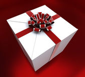 Giftbox Birthday Indicates Congratulating Giving And Present — Zdjęcie stockowe