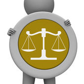 Balance Scales Means Jury Court And Balanced — Stock Photo