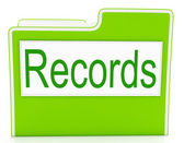 Records File Indicates Folders Business And Archive — Stock Photo